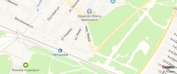 Переулок Мира на карте поселка Нетьинки с номерами домов