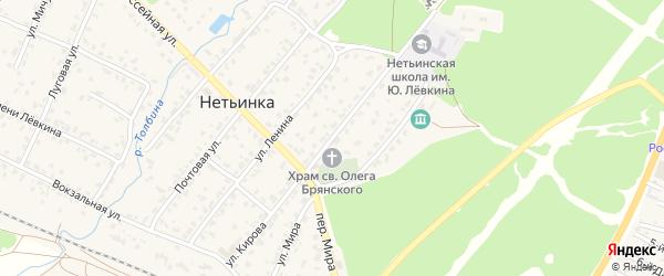 Улица Кирова на карте поселка Нетьинки с номерами домов