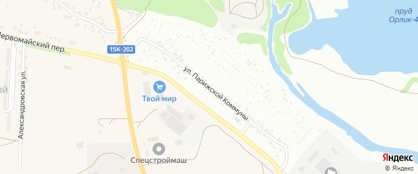 Улица Парижской Коммуны на карте Брянска с номерами домов