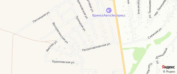 Троицкая улица на карте Отрадного села с номерами домов