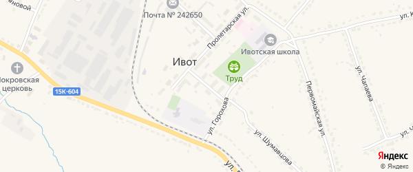 Пролетарский переулок на карте поселка Ивота с номерами домов