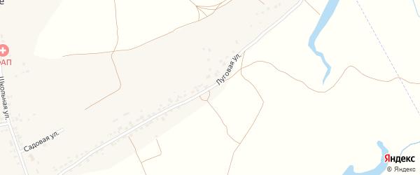 Луговая улица на карте села Палужьего с номерами домов