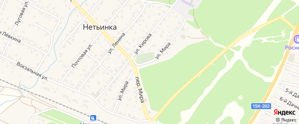 Улица Мира на карте поселка Нетьинки с номерами домов