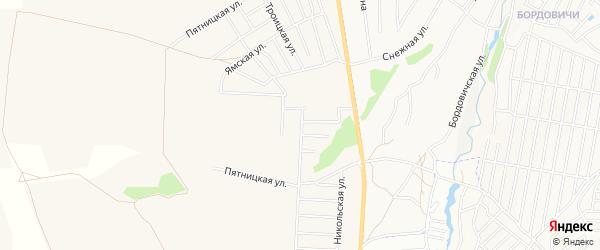 Карта поселка Нова-Отрадного в Брянской области с улицами и номерами домов