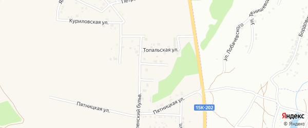 Успенская улица на карте Отрадного села с номерами домов