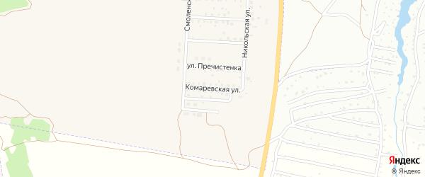 Комаревская улица на карте Отрадного села с номерами домов