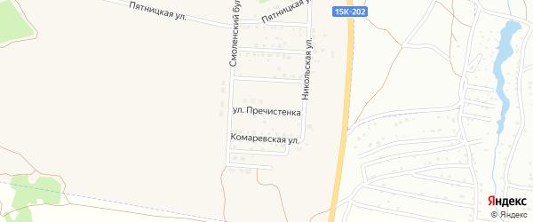 Улица Пречистенка на карте Отрадного села с номерами домов