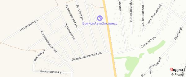 Улица Рождественка на карте Отрадного села с номерами домов