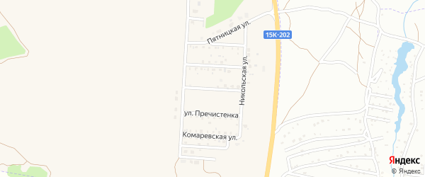 Улица Алексея Кротова на карте Отрадного села с номерами домов