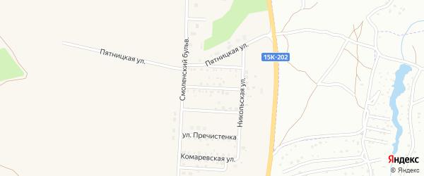 Улица Глафиры Алымовой на карте Отрадного села с номерами домов