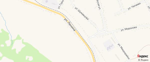 Улица Ленина на карте поселка Ивота с номерами домов