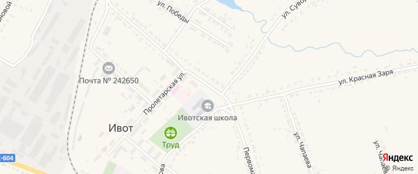 Первомайская улица на карте поселка Ивота с номерами домов