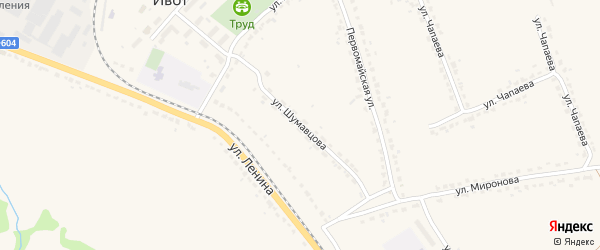 Улица Шумавцова на карте поселка Ивота с номерами домов
