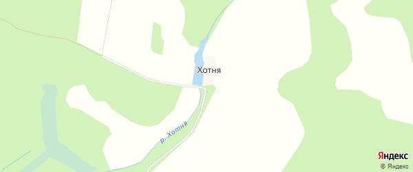 Карта деревни Хотни в Брянской области с улицами и номерами домов