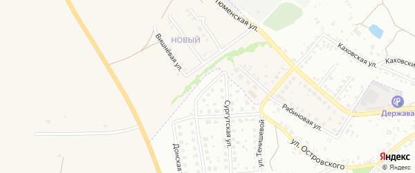 Когалымский переулок на карте Брянска с номерами домов