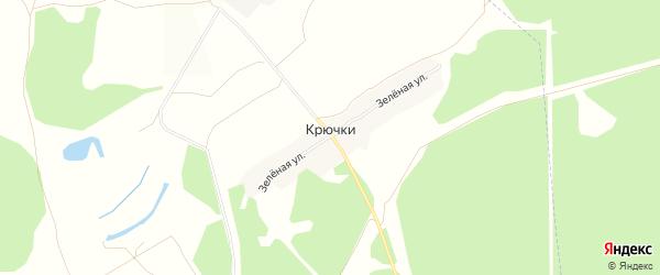 Карта поселка Крючки в Брянской области с улицами и номерами домов