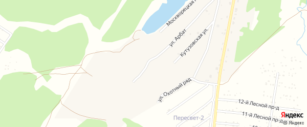 Улица Арбат на карте территории ЖК Подмосковья с номерами домов