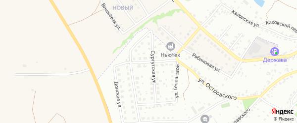 Сургутский переулок на карте Брянска с номерами домов