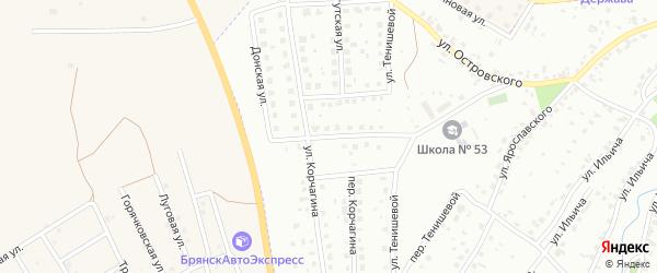 Тобольская улица на карте Брянска с номерами домов