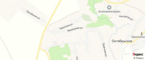 Березовая улица на карте Октябрьского села с номерами домов