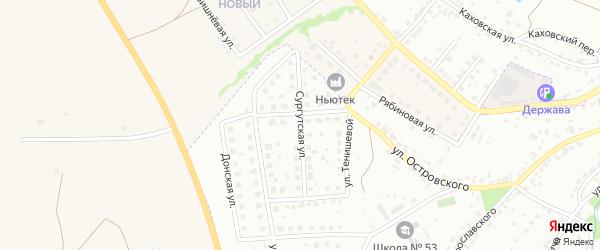 Сургутская улица на карте Брянска с номерами домов