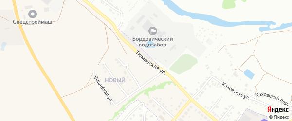 Тюменская улица на карте Брянска с номерами домов