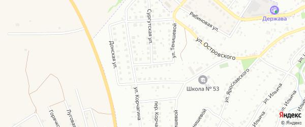 Ноябрьская улица на карте Брянска с номерами домов