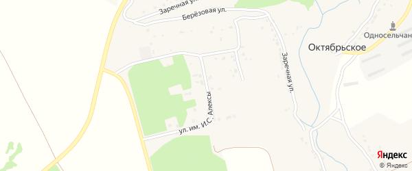 Улица им И.С.Алексы на карте Октябрьского села с номерами домов