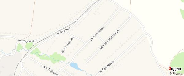 Улица Комарова на карте поселка Ивота с номерами домов