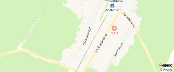 Вокзальная улица на карте поселка Холмечи с номерами домов