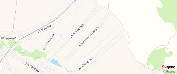 Комсомольская улица на карте поселка Ивота с номерами домов