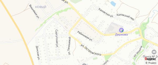 Рябиновая улица на карте Брянска с номерами домов