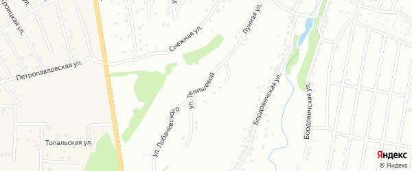 Улица Тенишевой на карте Брянска с номерами домов