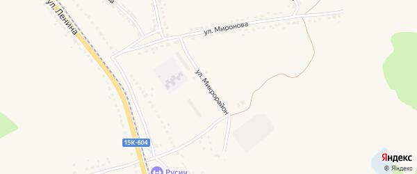 Улица Микрорайон на карте поселка Ивота с номерами домов