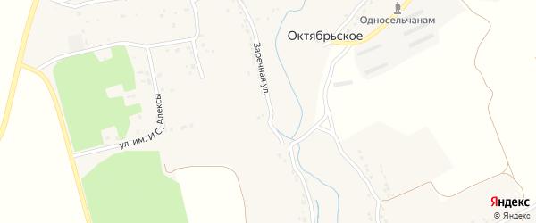 Заречная улица на карте Октябрьского села с номерами домов