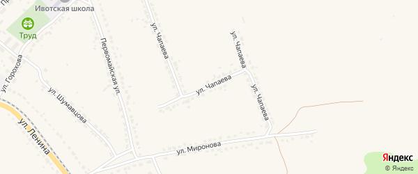 Улица Чапаева на карте поселка Ивота с номерами домов