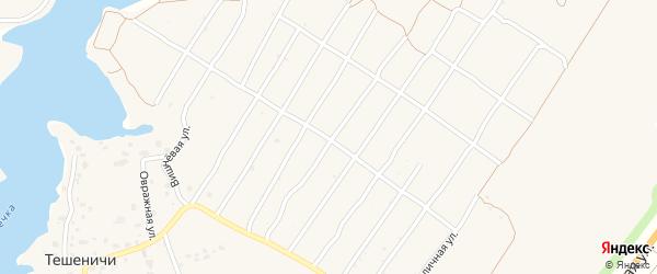 Территория сдт Радуга-1 на карте деревни Добруни с номерами домов