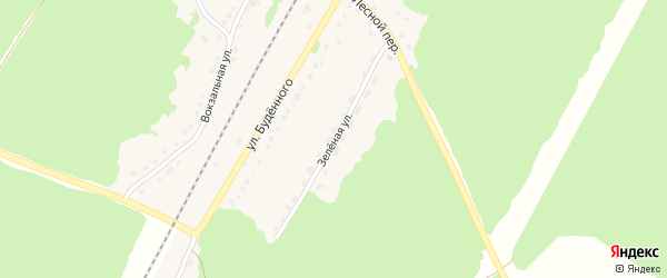 Зеленая улица на карте поселка Холмечи с номерами домов