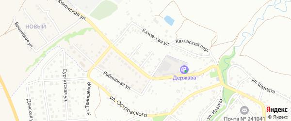 2-й Тюменский проезд на карте Брянска с номерами домов