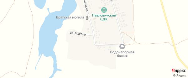 Улица Маевка на карте села Павловичей с номерами домов