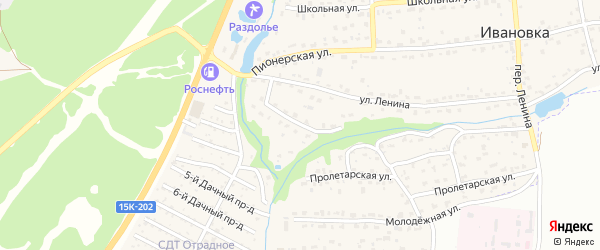 Первомайская улица на карте поселка Ивановки с номерами домов
