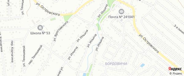 Улица Ильича на карте Брянска с номерами домов