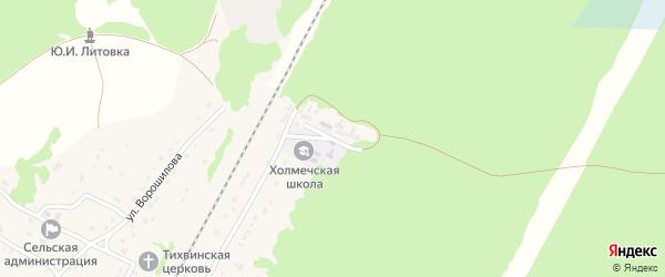Школьный переулок на карте поселка Холмечи с номерами домов