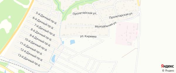 Улица Е.Киреева на карте поселка Ивановки с номерами домов