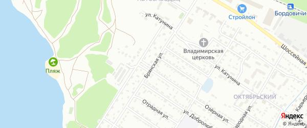 Со Земляника ул Брянская территория на карте Брянска с номерами домов
