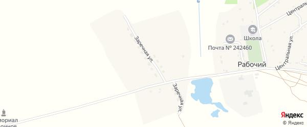 Заречная улица на карте Рабочего поселка с номерами домов