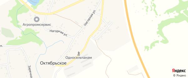 Нагорная улица на карте Октябрьского села с номерами домов