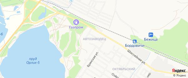 Территория ГО Автозаводец на карте Брянска с номерами домов
