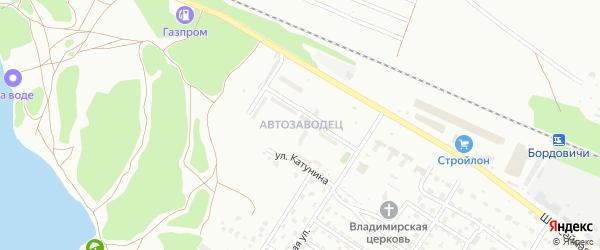 Микрорайон Автозаводец на карте Брянска с номерами домов