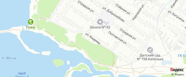 Улица Фадеева на карте Брянска с номерами домов